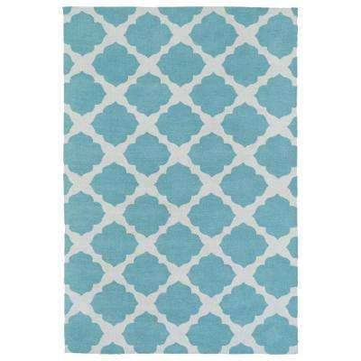 Lily and Liam Turquoise 8 ft. x 10 ft. Area Rug