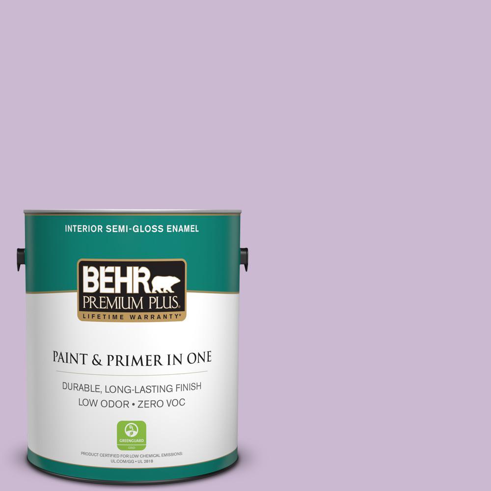 1-gal. #660C-3 Sweet Petal Zero VOC Semi-Gloss Enamel Interior Paint
