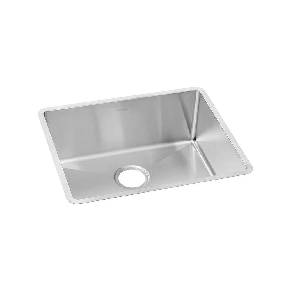 Crosstown Undermount Stainless Steel 23 in. Single Bowl Kitchen Sink