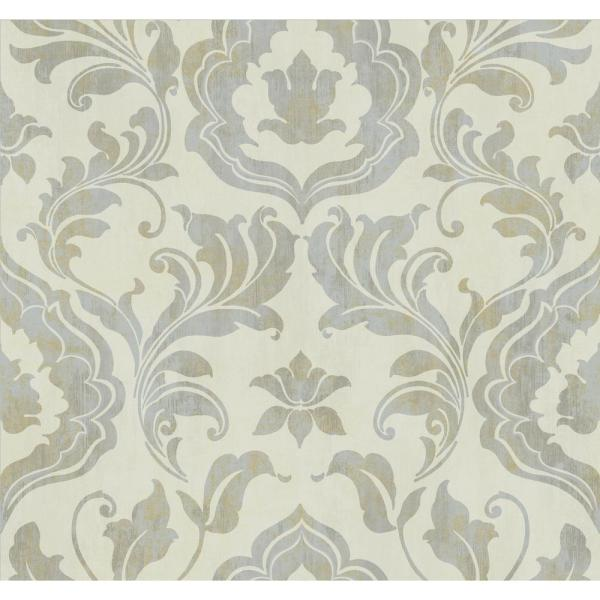 York Wallcoverings Gold Leaf Contempo Damask Wallpaper GF0700