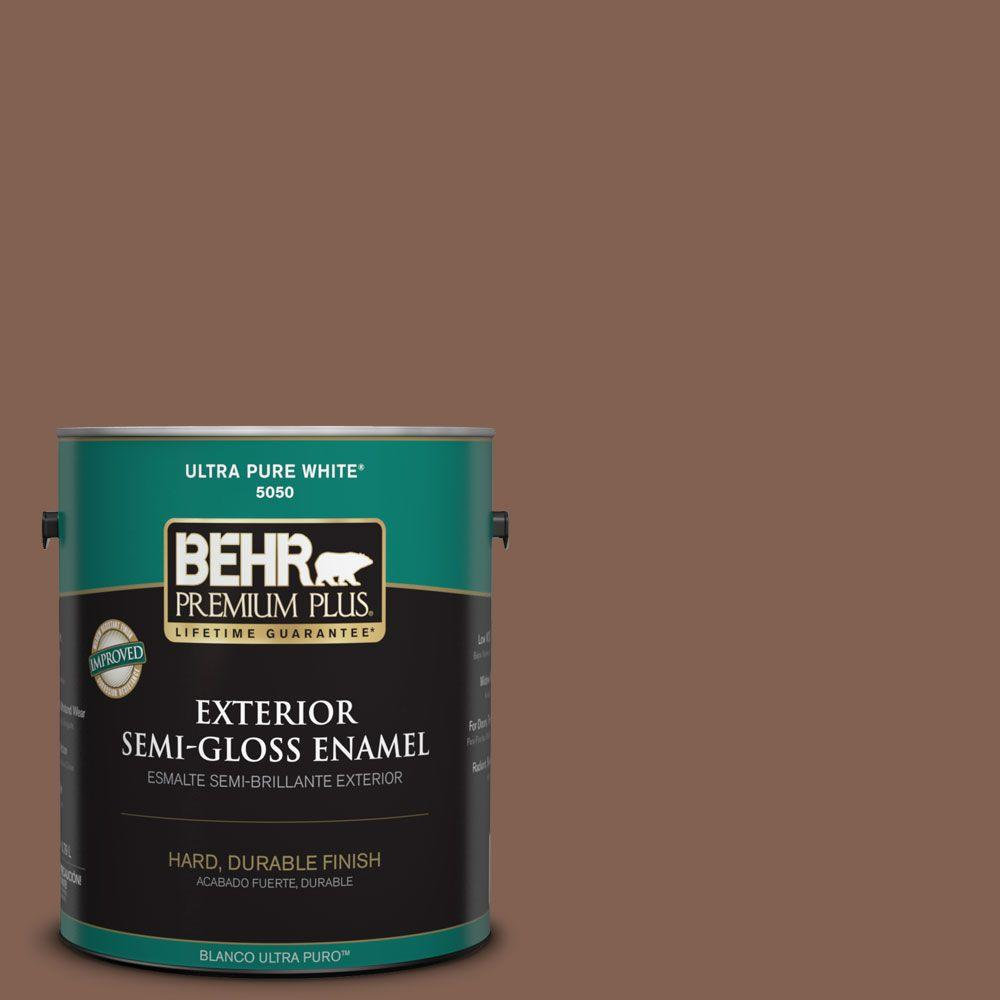 1-gal. #HDC-SP14-6 Tilled Earth Semi-Gloss Enamel Exterior Paint