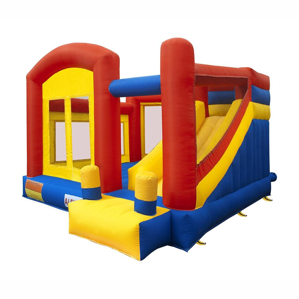 Aleko Bounce House With Slide And Blower Bhpground Hd The Home Depot