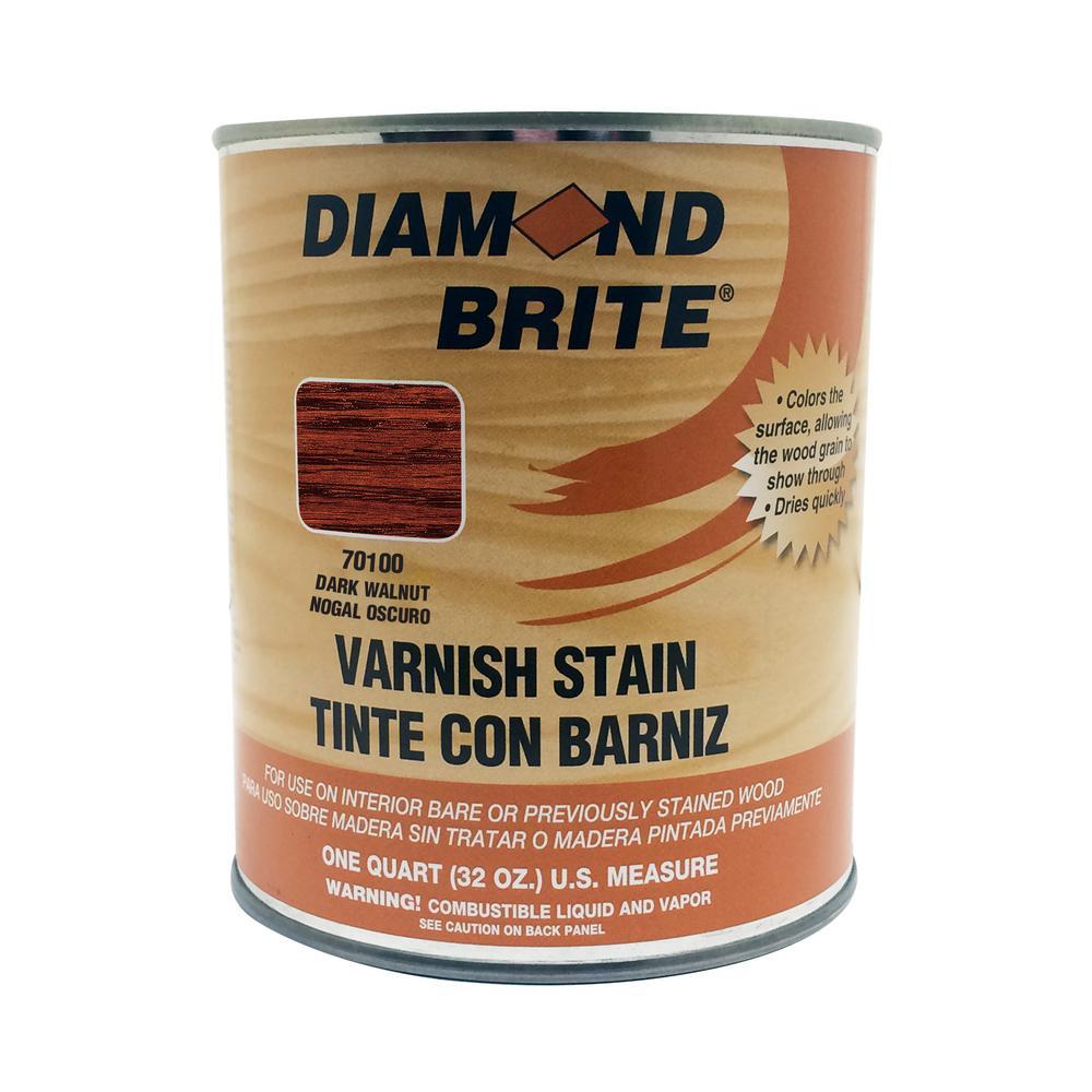 Diamond Brite Paint 1 qt. Dark Walnut Oil-Based Interior Varnish Stain