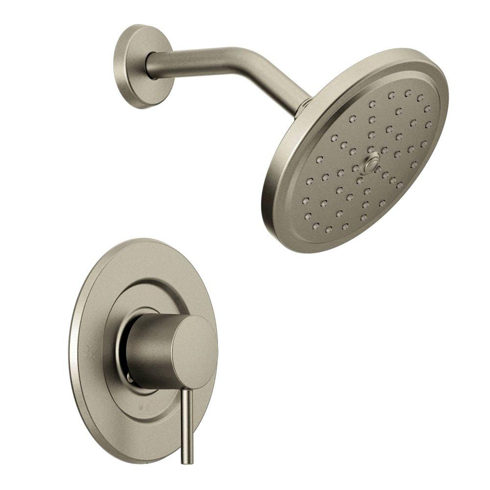 Moen align 1 handle moentrol shower faucet trim kit in brushed nickel valve not included - Moen shower faucet ...