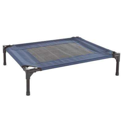 Medium Navy Blue Elevated Pet Bed