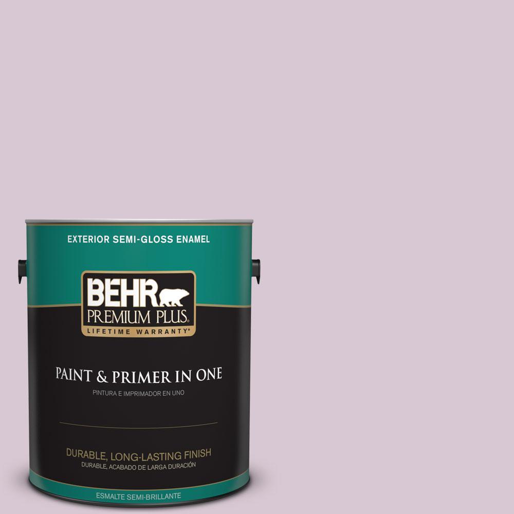 BEHR Premium Plus 1-gal. #S110-2 Orchid Haze Semi-Gloss Enamel Exterior Paint