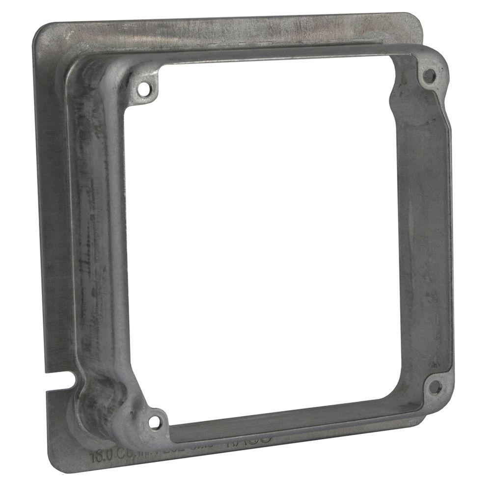 RACO 4-11/16 in. x 4 in. Square Adapter Ring, 1-1/4 in. Raised (12-Pack)