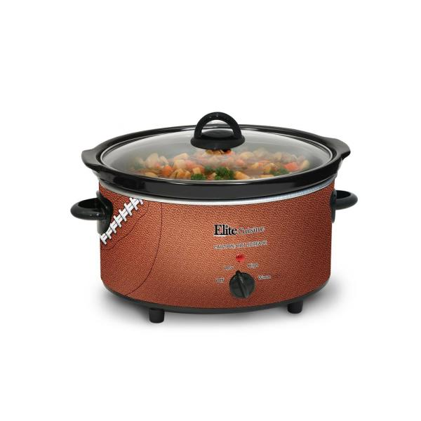 5 qt  Brown Football Slow Cooker