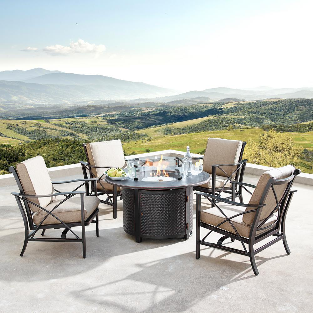 Oakland Living Chile Luxurious Antique Copper 5-Piece ... on Oakland Living Patio Sets id=41760