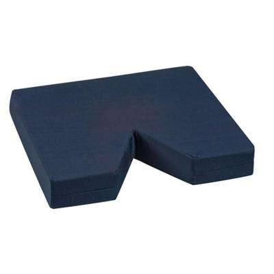 Duro-Med Coccyx Seat Cushion with Navy Poly/Cotton Cover in Navy