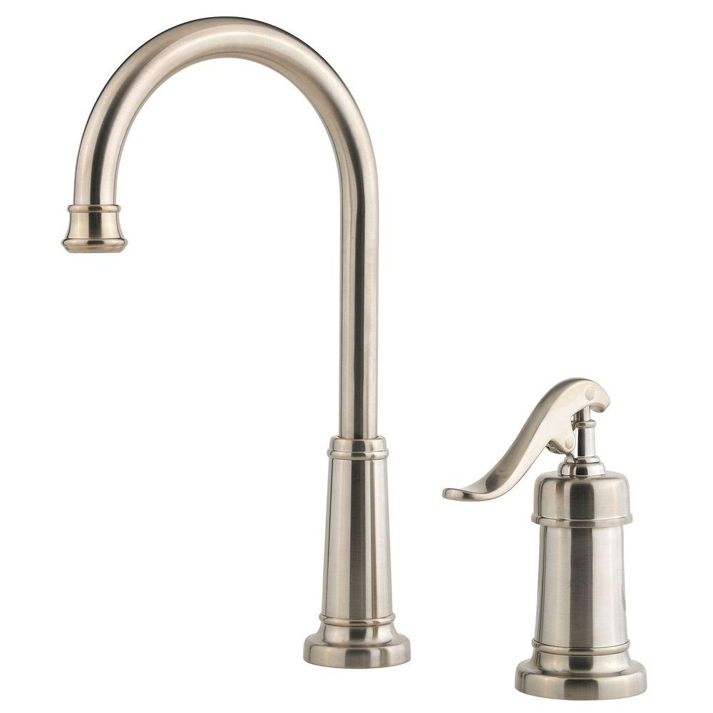 kitchen faucet brushed nickel pfister ashfield single handle bar faucet in brushed 19486