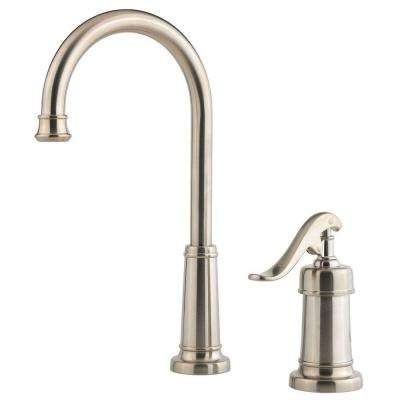 Ashfield Single-Handle Bar Faucet in Brushed Nickel