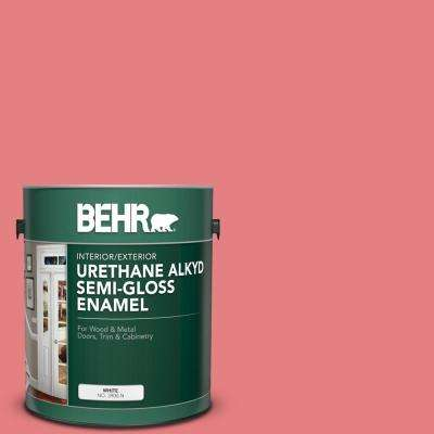 1 gal. #P170-4 Sugar Poppy Urethane Alkyd Semi-Gloss Enamel Interior/Exterior Paint