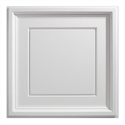 23.75in. X 23.75in. Icon Coffer Lay In Vinyl White Ceiling Panel (Case of 12)
