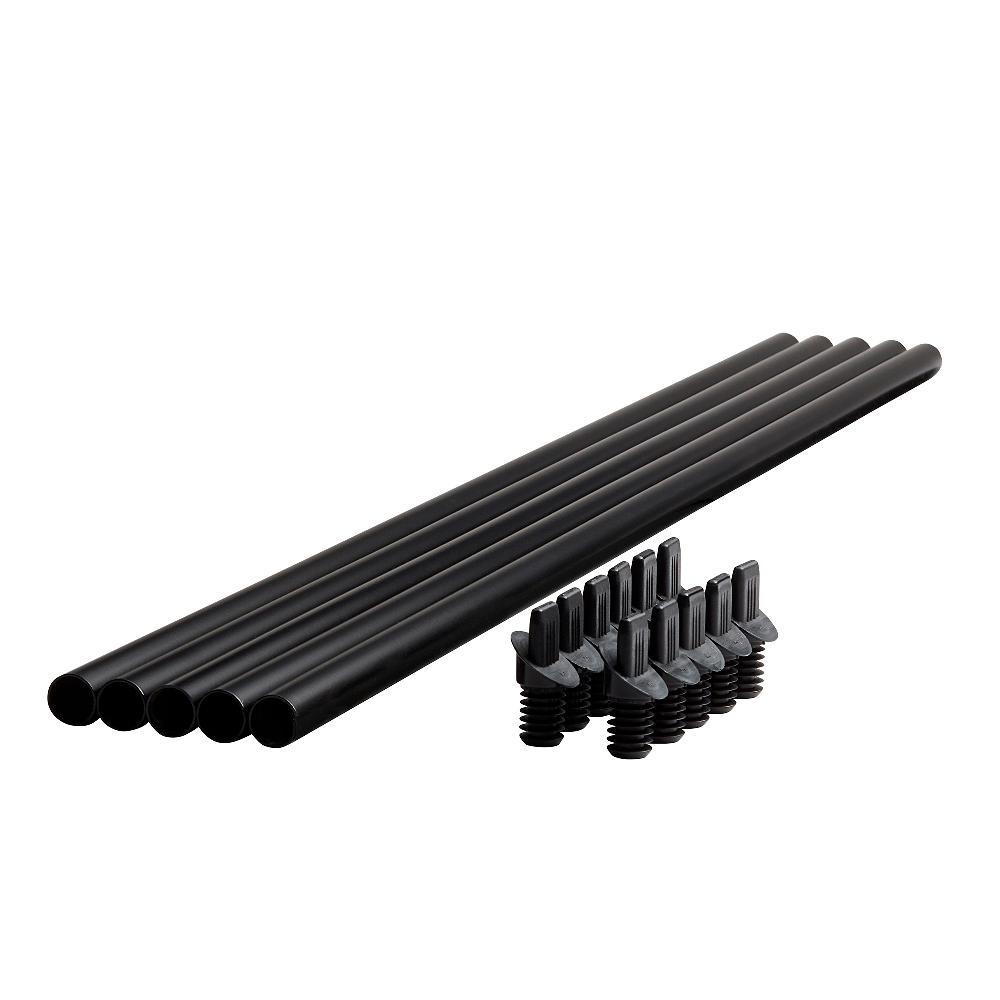 Fiberon Horizon 35.5 Black Round Metal Baluster Stair Kit
