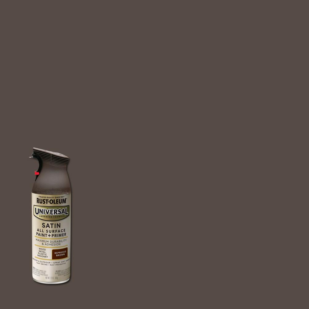 Rust-Oleum Universal 11 oz. All Surface Satin Espresso Brown Spray Paint and Primer in One (6-Pack)