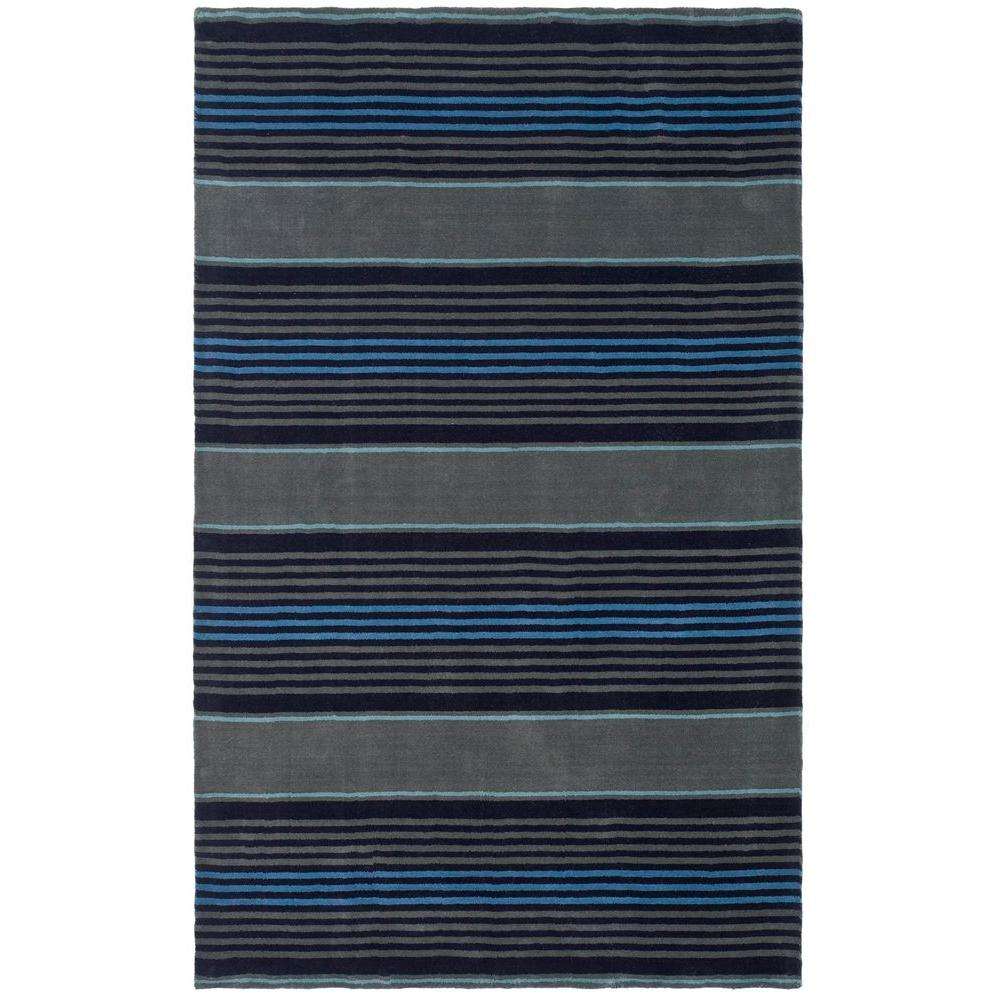 Martha Stewart Living Harmony Stripe Wrought Iron 5 ft. x 8 ft. Area Rug
