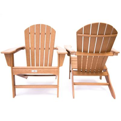 Hampton Teak Poly Outdoor Patio Adirondack Chair (2-Pack)