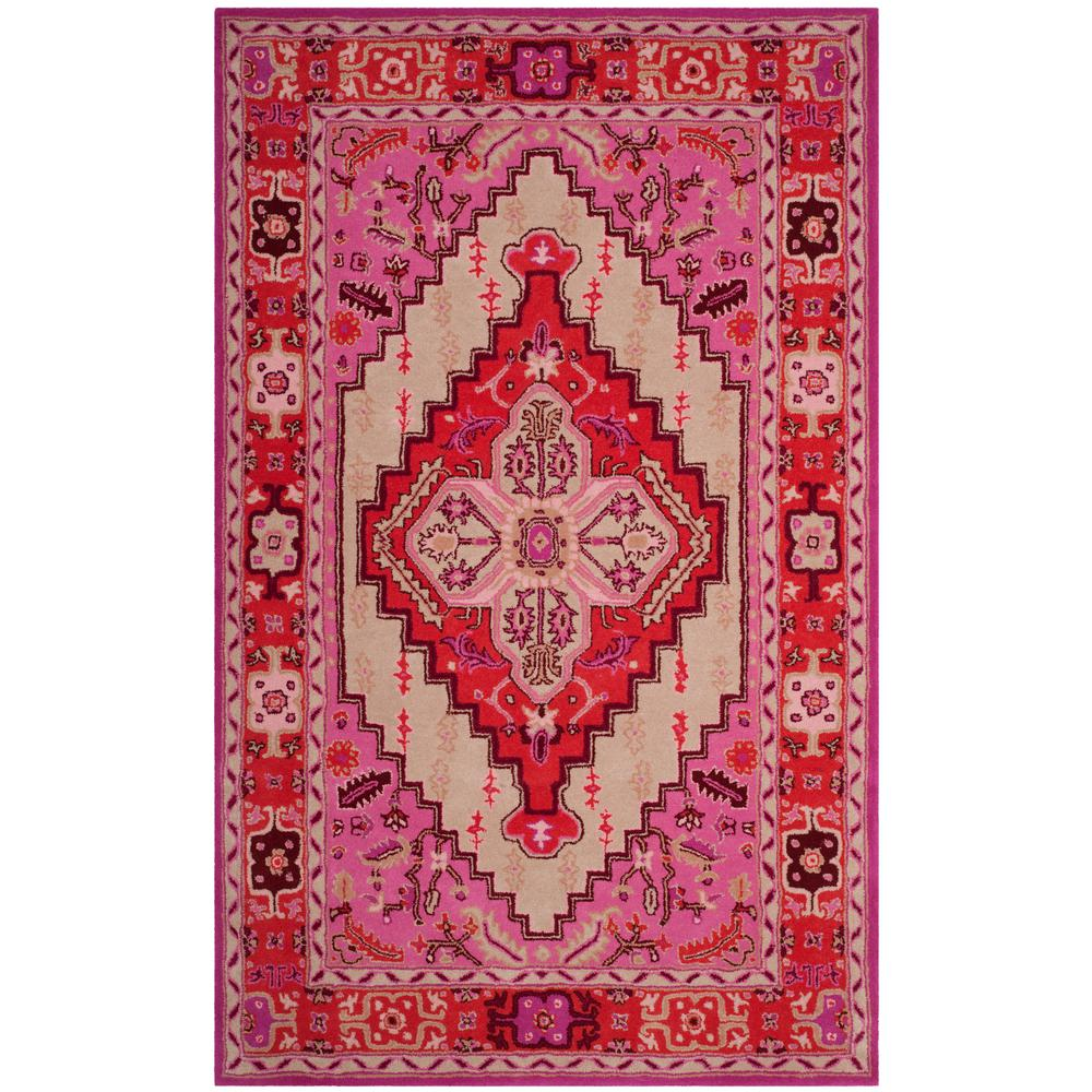 Bellagio Red Pink/Ivory 5 ft. x 8 ft. Area Rug