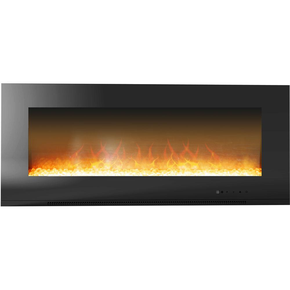 Metropolitan 56 in. Wall-Mount Electric Fireplace in Black