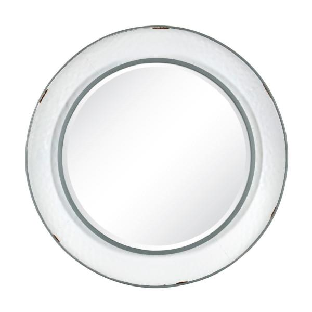 Kestler Round White Wall Mirror