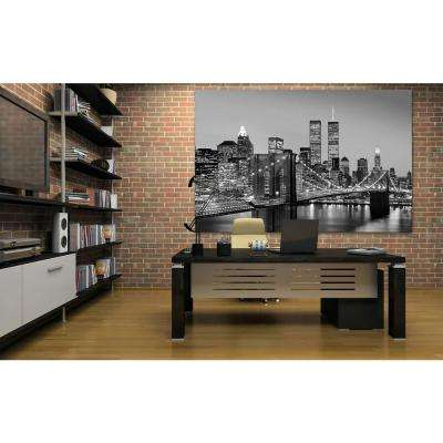 69 in. H x 45 in. W Manhattan Skyline at Night Wall Mural