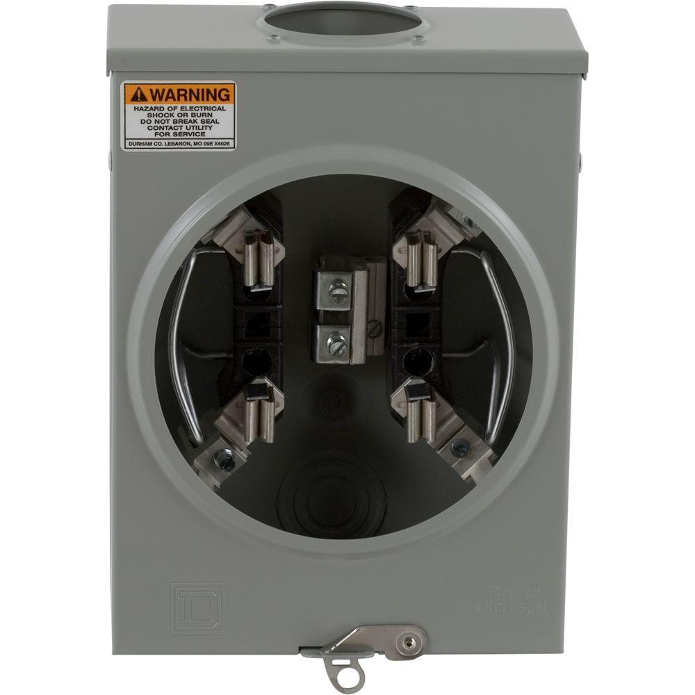 125 Amp Ringless-Horn Bypass Overhead or Underground Meter Socket