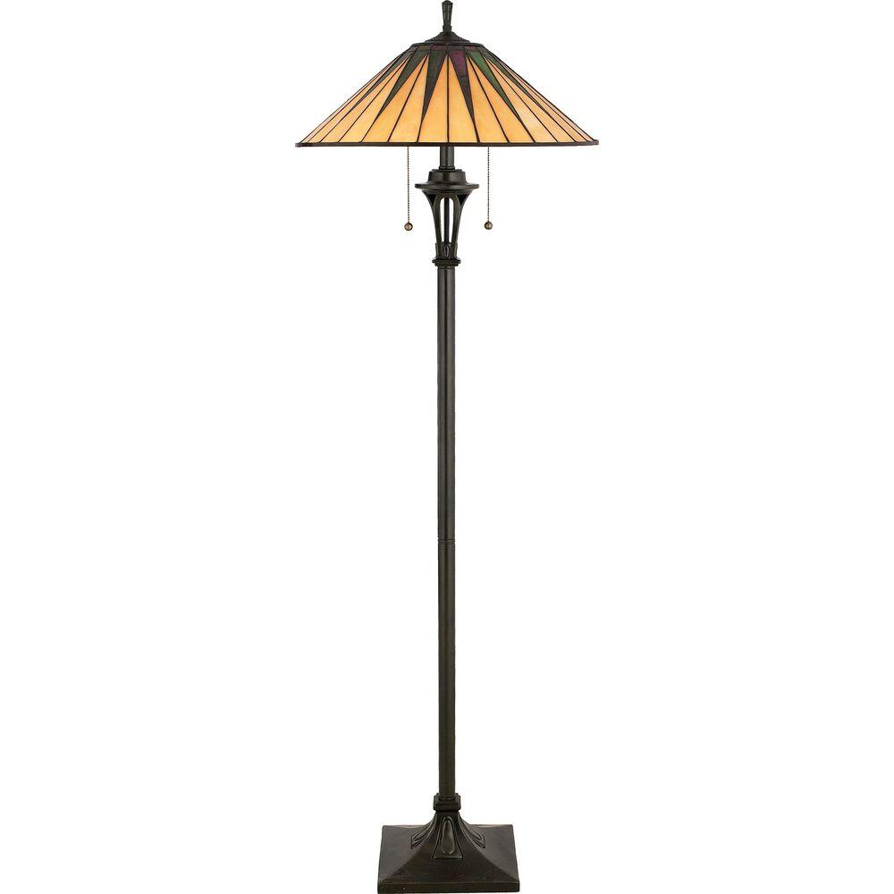 Home Decorators Collection Gotham 62 In. Vintage Bronze Floor Lamp