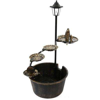 Solar LED Tiered Fountain with Fish Decor