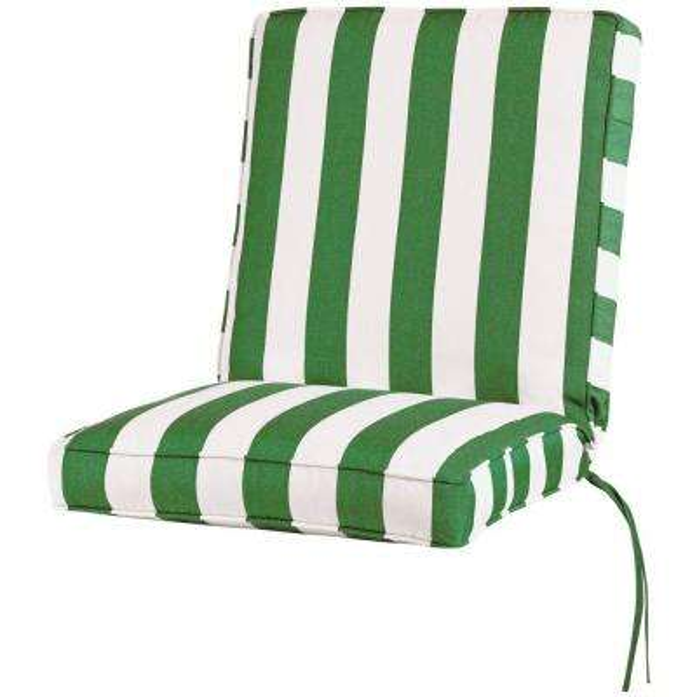 Sunbrella Maxim Emerald Outdoor Dining Chair Cushion