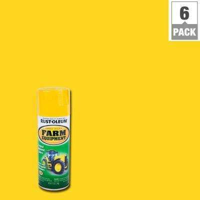 12 oz. Farm Equipment John Deere Yellow Gloss Enamel Spray Paint (6-Pack)