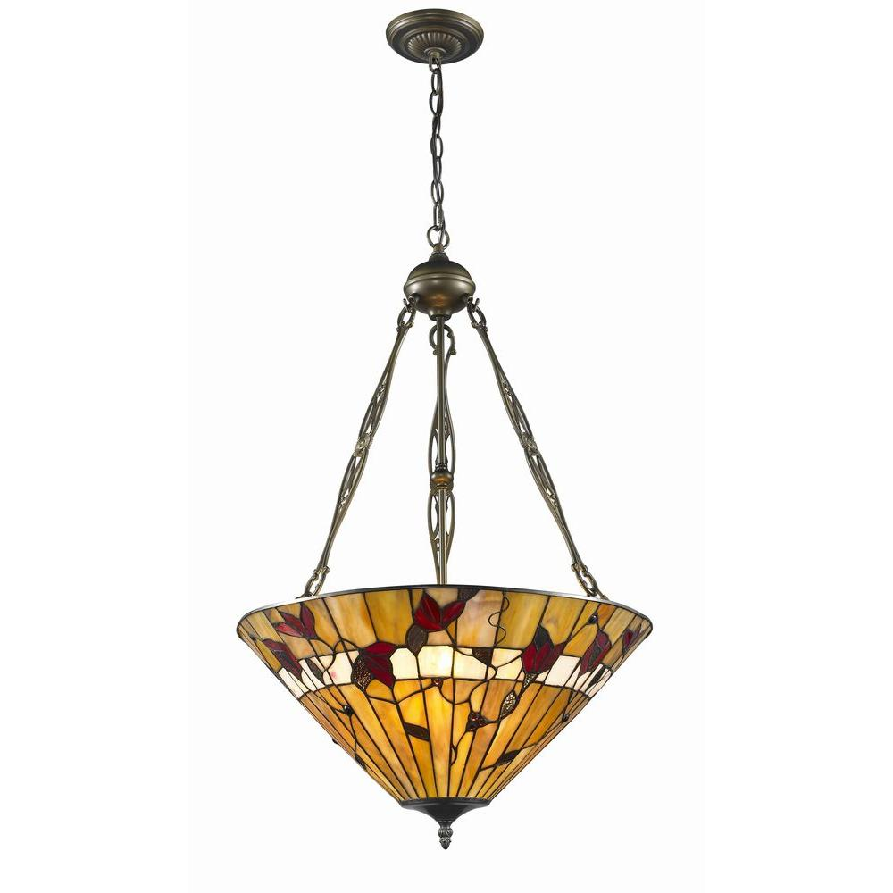 dc6a34fbcca Serena D italia Tiffany Style 2-Light Bronze Spring Blossom Hanging Lamp
