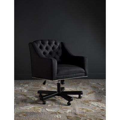 Salazar Black/Taupe Linen Office Chair