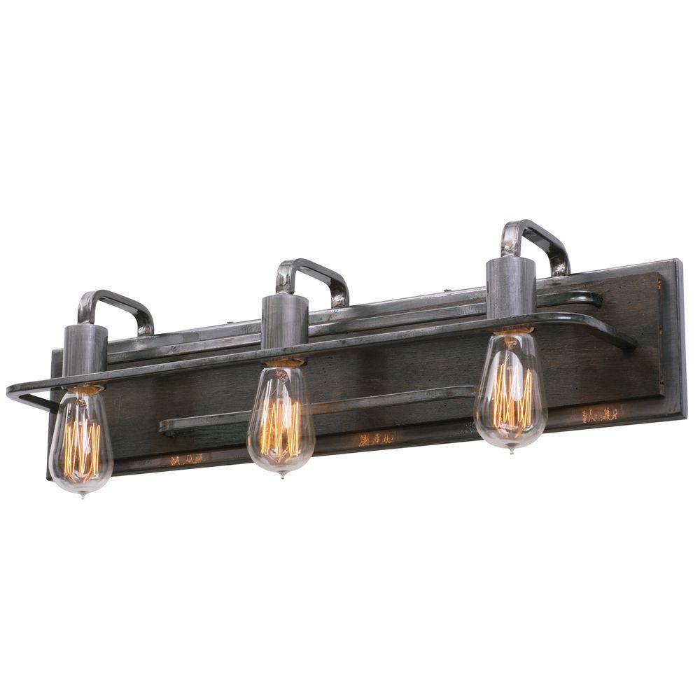 Varaluz Lofty 3-Light Steel Vanity Light