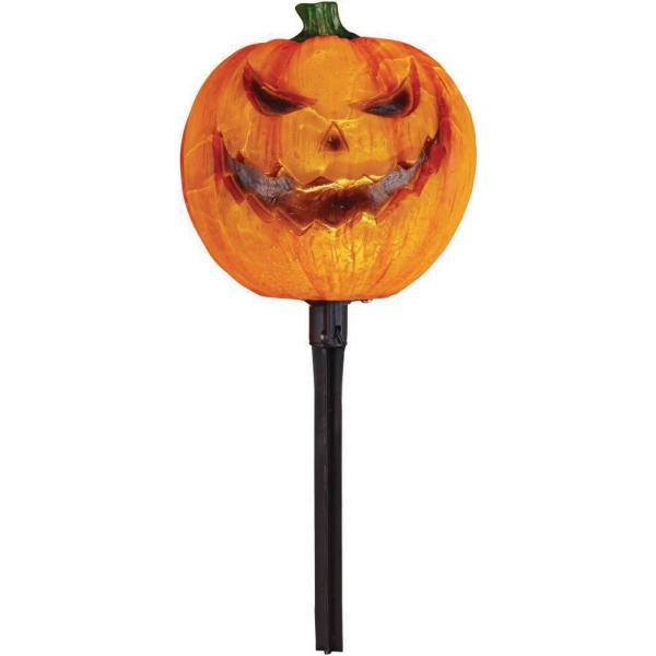15 in. LED Jack-0-Lantern Pathway Markers with Timer (4-Pack)