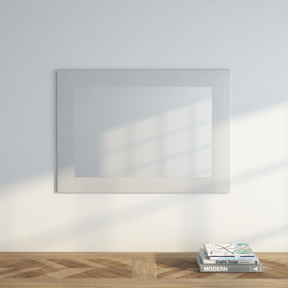 Muro 33 1/2 in. x 23 3/4 in. Modern Framed Mirror