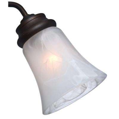 2-1/4 in. Swirled Marble Bell Shape Glass Ceiling Fan Light (4-Set)