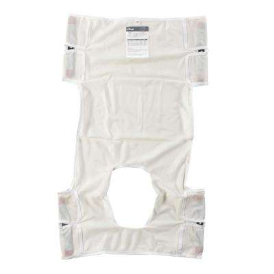 Patient Lift Sling Polyester Mesh with Commode Cutout