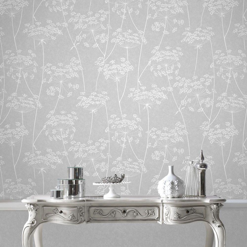 Graham Brown Gray Aura Removable Wallpaper 33 304 The Home Depot