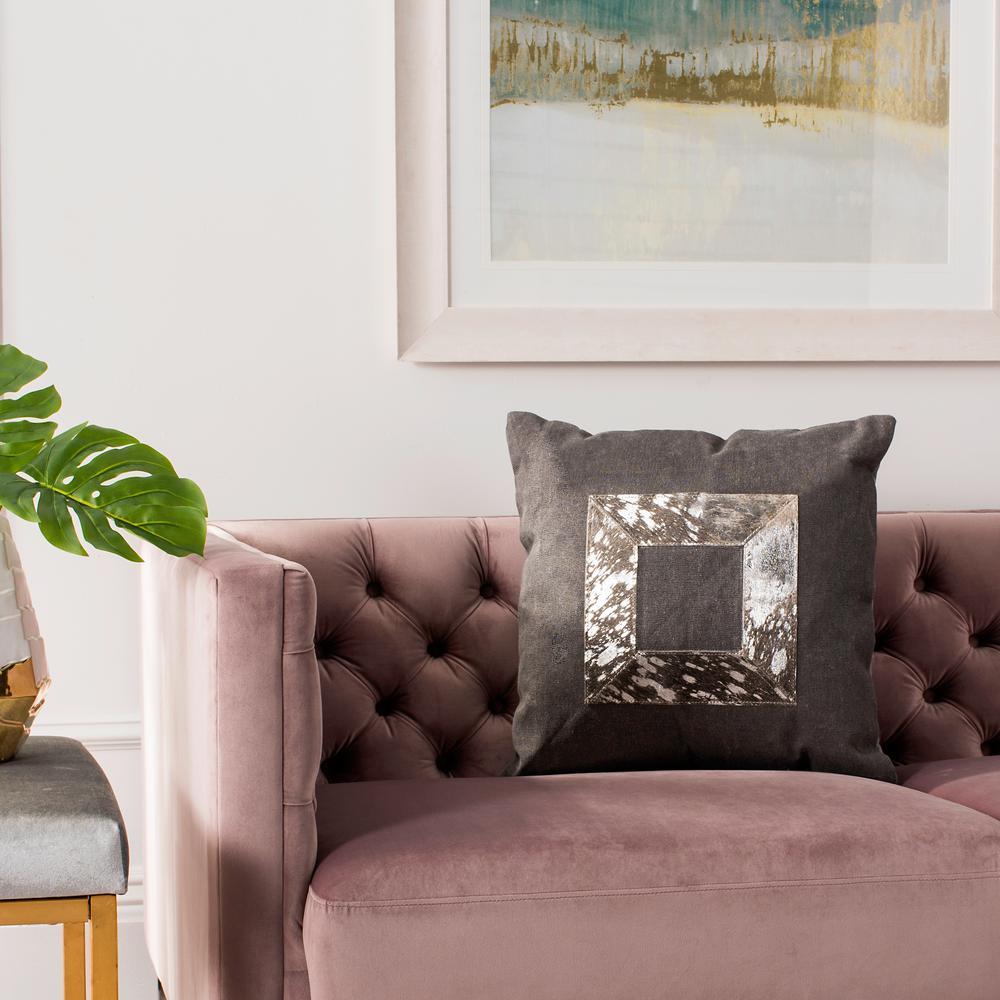 Grayer Metallic Cowhide Standard Pillow