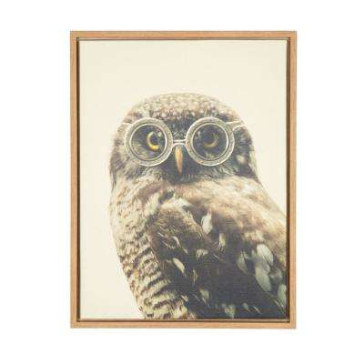 "Sylvie ""Owl"" by F2Images Framed Canvas Wall Art"