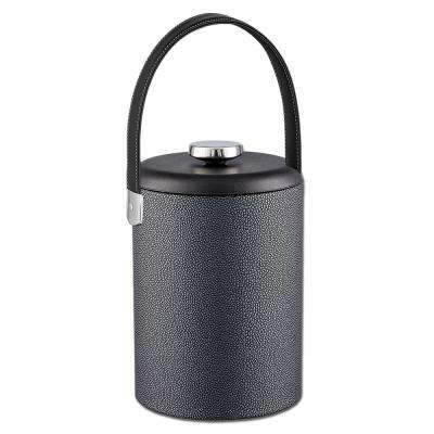 Cosmopolitan Noir 2 Qt. Ice Bucket with Domed Lid and Strap Handle