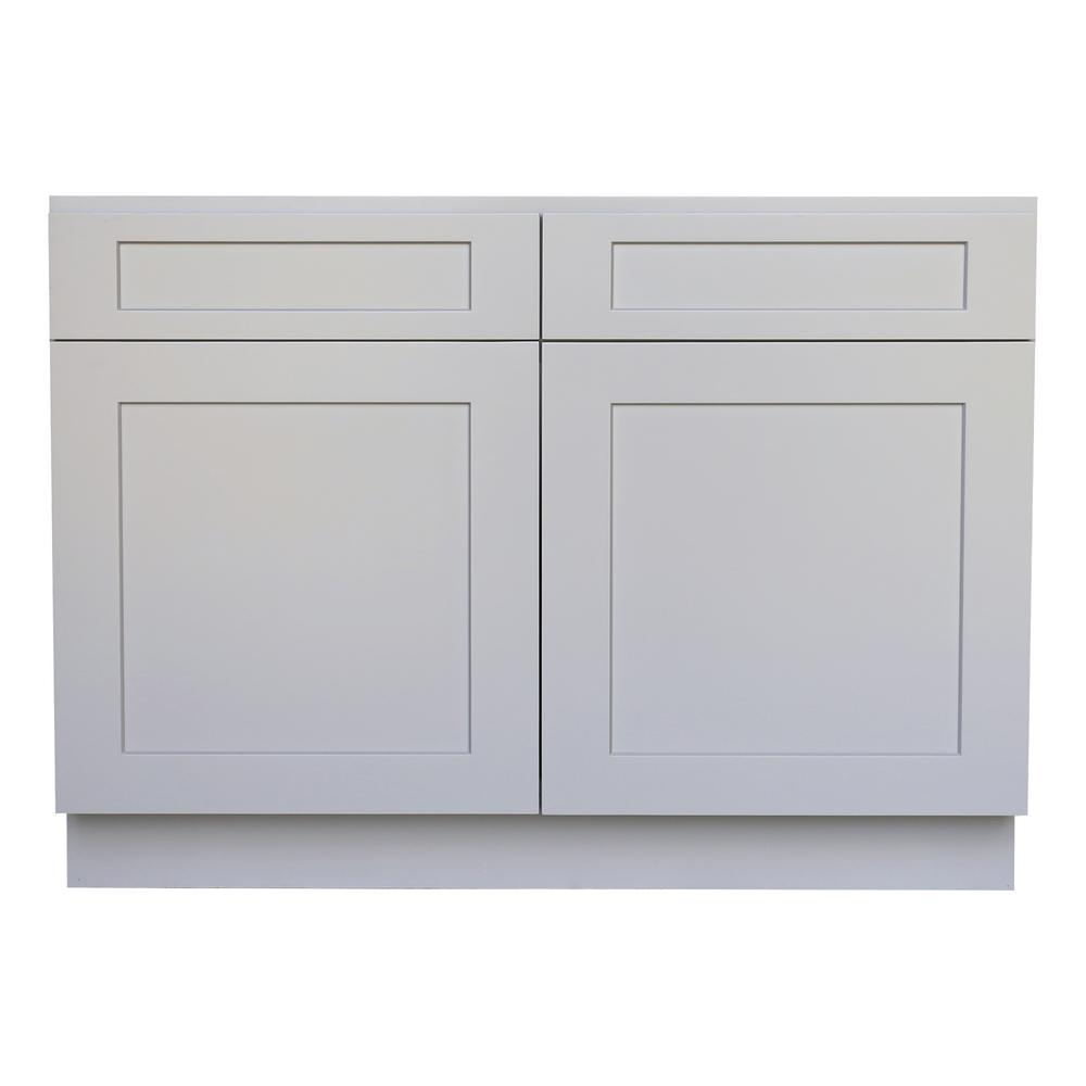 Plywell Ready to Assemble 33x34.5x24 in. Shaker Sink Base ...