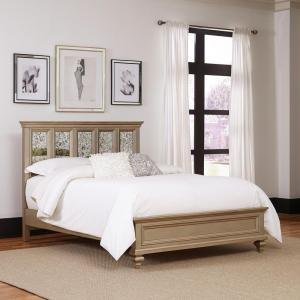 Visions Silver Gold Champagne Queen Bed Frame