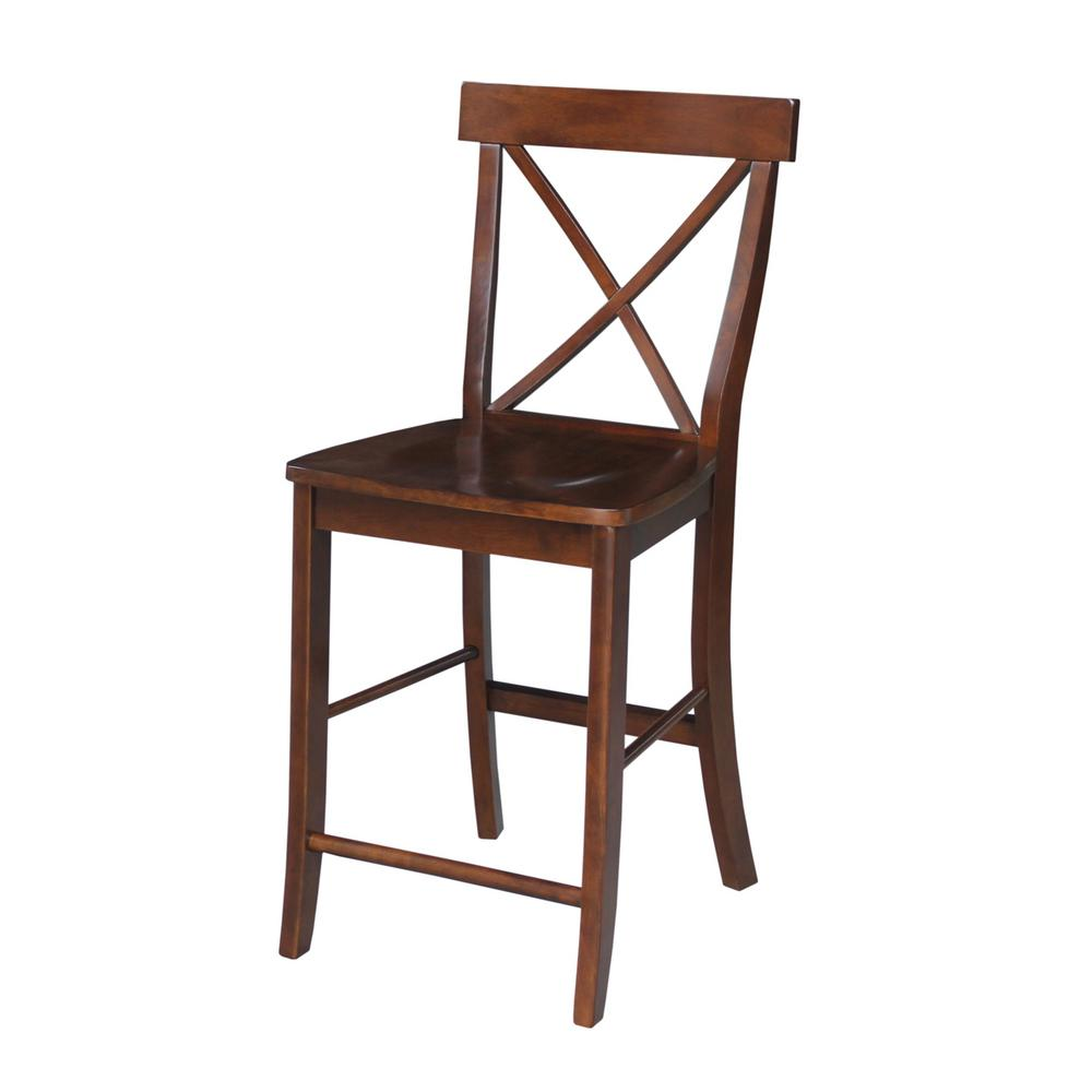 separation shoes 3d0c5 88311 X Back 24 in. Espresso Bar Stool