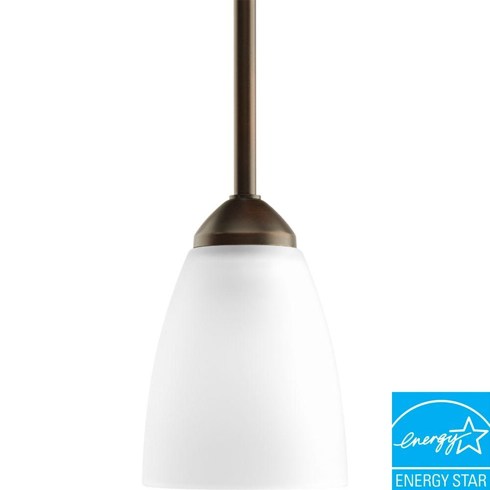 This Review Is From:Gather Collection 1 Light Antique Bronze Mini Pendant  With Etched Glass