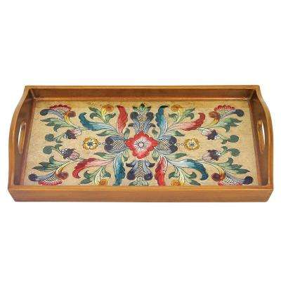 18 in. x 12 in. Gemstone Sand Rectangle Tray