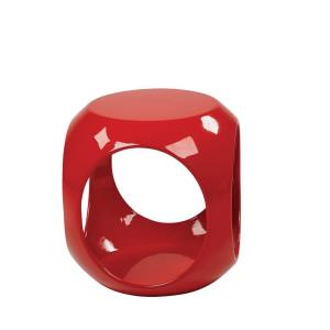 Ave Six Slick Cube Red End Table by Ave Six
