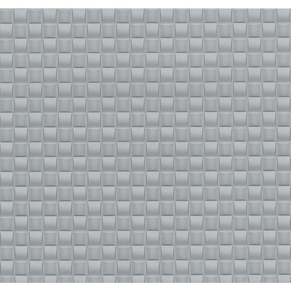 4fc266f72 Advantage 56.4 sq. ft. Chet Light Blue Tile Texture Wallpaper 2799-02468-30  - The Home Depot