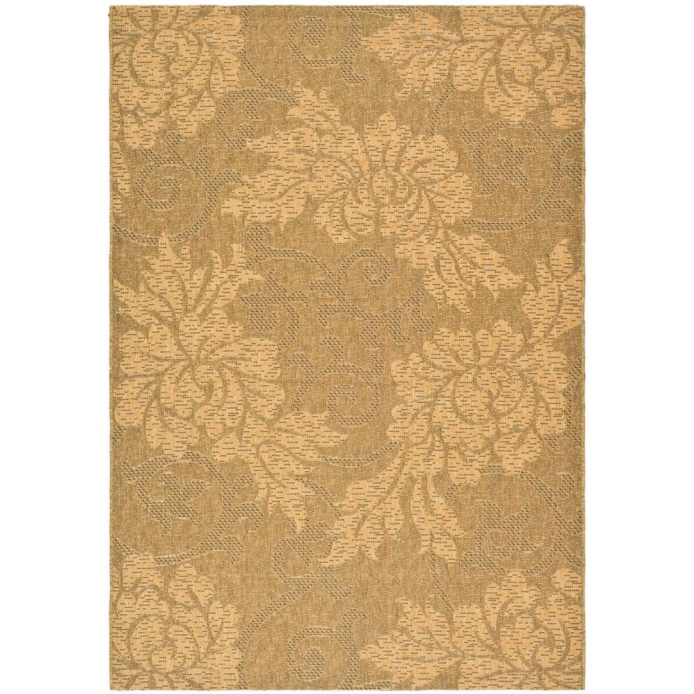 Courtyard Gold/Natural 5 ft. 3 in. x 7 ft. 7 in.